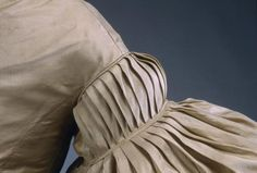 """and that's how you fit 4 yards of fabric into a 10"""" hole :) (wedding dress ca. 1830)"""