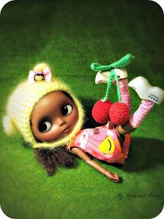My little cutie with a cherry on top #blythe #blackblythe #mydeliciousbliss