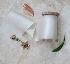 Habotai Silk Natural-dyed ribbon - BRIGHT IVORY 3 metres on spool
