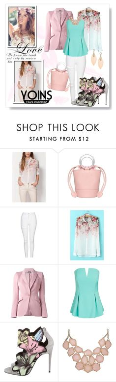 """yoins"" by karolay-marquez-bustamante ❤ liked on Polyvore featuring By Emily, Topshop, Alexander McQueen, City Chic, Pierre Hardy, yoins and plus size clothing"