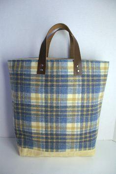 Vintage Wool Simple Tote