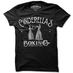MAN I WANT ONE OF THESE !! $18 Cinderella Boxing Women Tee Blk