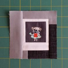 Here's a quick and easy way to finish your Polaroid blocks, while adding a neat shading effect. Like so (and how stinking cute is that pug i...