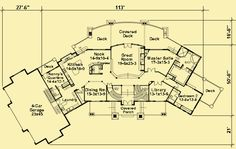 Modifications needed but some interesting details - Architectural House Plans : Floor Plan Details : Luxury Living