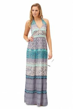 Ceramic Tile Print Maxi Dress  at Long Tall Sally, your number one fashion retailer for tall women's clothing #tallfashion #tallwomen #tallgirl #maxidress