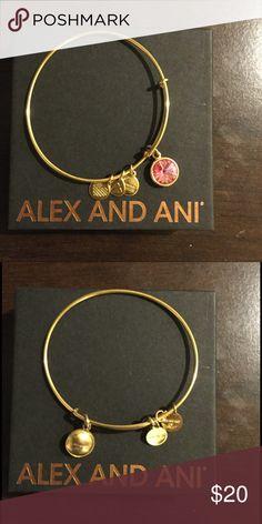 Alex and ANI Bracelet💕 October Birth Month Charm 💕💕 Excellent Condition!! Alex & Ani Jewelry Bracelets