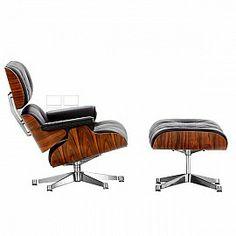 Eames Lounge chair & stool polished 1956