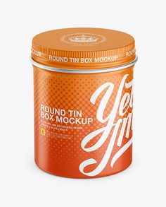 Matte Round Tin Box Mockup - High-Anlge Shot (Preview)