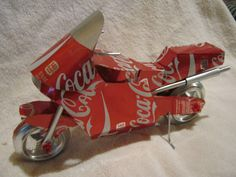 recycled handmade sport bike aluminum can art by CANARTCRAFTS2204, $29.95