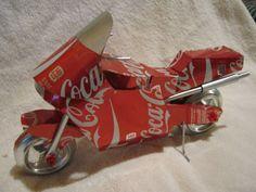 recycled handmade sport bike aluminum can art by CANARTCRAFTS2204, $29.95