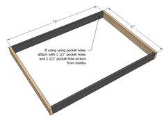Ideas For Diy Box Spring Platform Queen Size Diy Bed Frame Plans, Full Bed Frame, Platform Bed Plans, Wood Platform Bed, Box Spring Bed Frame, Diy Toddler Bed, Cama King, Bed Springs, Diy Box