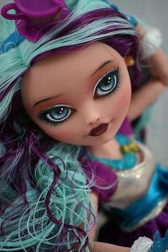 Monster High Ever After Madeline Hatter OOAK Repaint by brandiwine