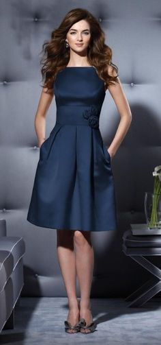 This is a stunning and cunning use of a well saturated blue, this dress, although hard to see the shoulder, would be flattering on most women, I love the length, perfect dress for SO many occasions, day or night.