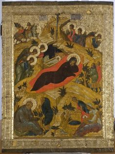 Full of Grace and Truth: Hymn IV on the Nativity of Christ, by St. Ephraim the Syrian Byzantine Icons, Byzantine Art, Romanesque Art, Art Roman, Russian Icons, Best Icons, Orthodox Icons, Sacred Art, Fresco