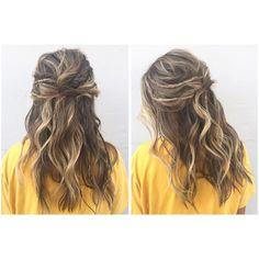"53 Likes, 4 Comments - ✂️ cielo salon medford (@bymorganoreeda) on Instagram: ""Boho prom hair @bumbleandbumble @cielo.salon #bohovibes #promhair #prom #dance #halfup #updo…"""