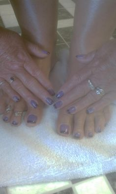 matching mani and pedi