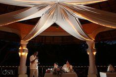 Riviera Maya Wedding at Grand Palladium, pretty decor for a wedding reception in paradise. Mexico wedding photographers Del Sol Photography