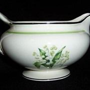 Homer Laughlin: Lily of the Valley : Eggshell Nautilus Creamer