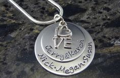 GroopDealz | Personalized Hand Stamped Mothers Necklace