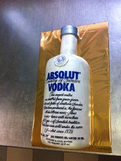 Absolut vodka cake