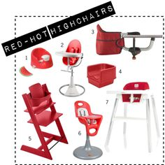 hey, good-looking! check out these form & functional red-haute highchairs