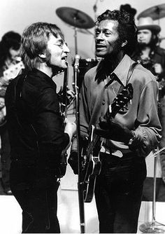 "John Lennon & Chuck Berry (This is what ""perfect"" looks like.)"