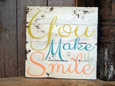 You make me smile Lyrics by UNCLE KRACKER on by ThePinkToolBox, $25.00