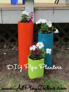Quick and Easy 30 minute PVC Planters