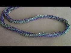 Seed bead jewelry Chevron Rope ~ Seed Bead Tutorials Discovred by : Linda Linebaugh Diy Necklace Rope, Necklace Tutorial, Beaded Necklace, Beaded Bracelets, Necklaces, Bead Jewellery, Seed Bead Jewelry, Jewelry Making Tutorials, Beading Tutorials