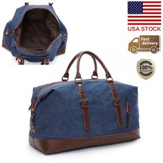 Men Tote Bag Large Capacity Canvas Luggage Travel Handbag Duffle Gym Bags New #Unbranded #Tote