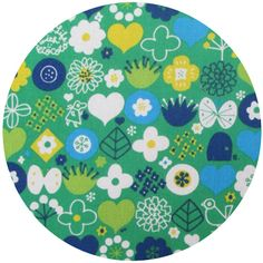 Kokka Japan, Small Shapes Green fabric for cushion project