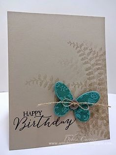 Fern and butterfly card, so pretty