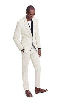 Men's Ludlow Slim-Fit Wide-Lapel Suit Jacket In Japanese Seersucker - Men's Suiting Suit Shop, Cashmere Sweaters, Mens Suits, J Crew, Suit Jacket, Handsome, Menswear, Tuxedos, Devil
