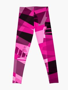 'Pink Abstract Array Arrangement' Leggings by CreatedProto Best Leggings For Work, Pink Abstract, Best Christmas Gifts, Workout Leggings, Artwork Prints, Fun Workouts, Wall Tapestry, Chiffon Tops, Fabric