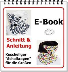 Nähanleitg. Accessoires - E-Book - Schalkragen für die Großen - ein Designerstück von SchnittFUN bei DaWanda