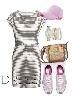 """""""dress"""" by masayuki4499 ❤ liked on Polyvore featuring FOSSIL, H&M, Vans and Jessica Carlyle"""