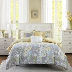 Madison Park Addison Yellow Cotton Duvet Cover Set - Free Shipping Today - Overstock.com - 19154689 - Mobile