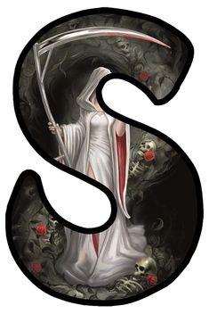 Gothic Art, Gothic Beauty, Halloween Printable, Human Skeleton, Gothic Fashion, Alphabet, Moon, Dark, Pictures