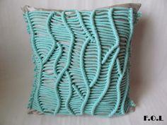 Macrame pillow.