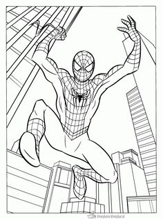 free printable spiderman coloring pages for kids.html