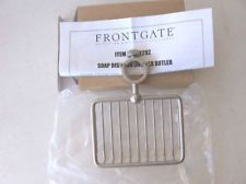 $30 shower BUTLER ??? Frontgate Shower Butler Stainless Steel - Soap Dish New