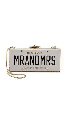 Kate Spade New York License Plate Clutch