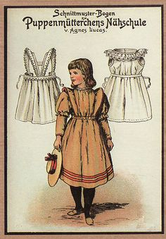 Vintage German Paper Doll Note Cards with Doll Clothes Patterns