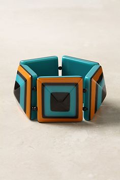 Great color combination deco style bracelet from Anthropologie