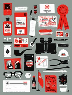 Rushmore poster by The Little Friends of Printmaking / JW and Melissa Buchanan