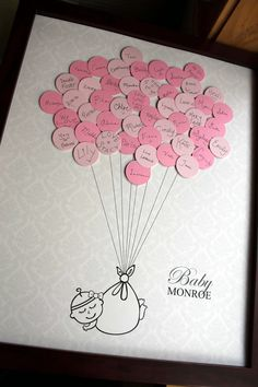 Baby Shower Guest Print Damask - Say Anything Design