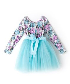 Loving this Turquoise & Pink Princess Floral Dress - Infant, Toddler & Girls on #zulily! #zulilyfinds
