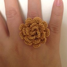 crochet ring - might just use the flower pattern