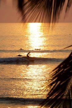 Sunset surf sesh!!  What I wanna do.