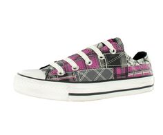 Converse Women's All Star Chuck Taylor Print Ox Casual Shoes Black/Gray/Berry